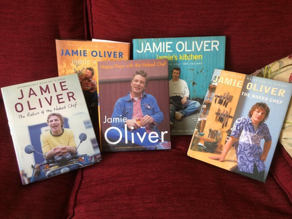 Jamie Oliver cookbooks x5