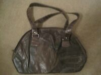 Medium brown (2 tone brown) handbag as seen in picture
