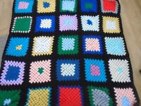 New Hand Made Crochet Blanket aprox 41 inches square