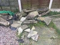 Garden rubble
