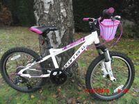 "Carrera LunaMountain Bike 20"" Wheels 7 speed front suspension AS NEW"