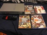 PS2 Play Station 2 with games