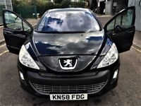 Peugeot 308 Hatchback 2008-year low mileage, Petrol, Manual