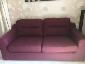 3 Seater Mulberry Sofa - virtually unused