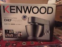 Kenwood Chef Premier KMC570 1000W New w Blender and Food Processor attachments