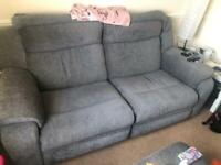 Two seater recliner and pouffe