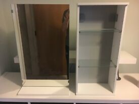 Bathroom Shelving Unit and Mirror
