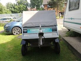 camel box trailer inc fitted steel cage and tarp