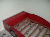 TWO RED RACING CAR BEDS PICK UP LEEDS AREA