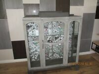 chalk painted antique china display cabinet
