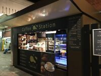 Barista required for coffee kiosk on station platform