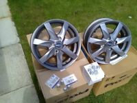 Hyundai i10 alloys finished in metallic gunmetal grey. Unmarked and original boxes