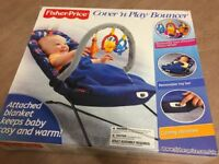Fisher Price Cover n Play Bouncer Baby Up to 6 Months