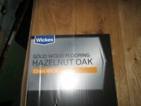 NEW wickes hazelnut solid oak flooring 4 boxes REDUCED