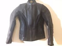 Lewes lady leather motorcycle jacket
