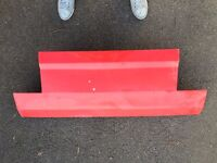 VW Mk1 Golf Cabriolet smooth boot tailgate in red smoothed
