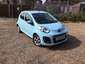 Citroen 1.0VTR + 5 door is a stunning little petrol city car in powder Blue.