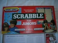 Scrabble for juniors, 2-4 players, aged 8+, an enjoyable and educational game, 2 versions, as new