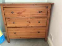 Ikea Hernes chest of drawer and 2 bedside cabinets