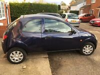 Blue Ford KA Style 3 door YT02 PHY