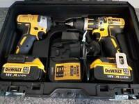 DeWALT Dcd795 18V XR Li-ion BRUSHLESS Combi drill ,DCF887 3 speed impact driver.