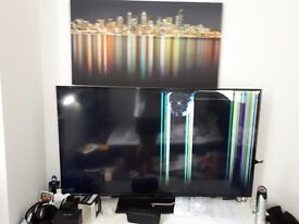 Cracked screen 50inch Flat Sreen for sale