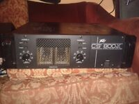 Power Amp Amplifier. Peavey CS 800X. 600 watts x2