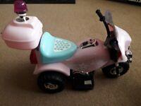 kids electric pink bike
