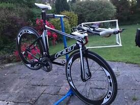 Triathlon tt bike felt b12 hed wheels - frame size 54