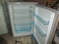 Fridge, 55 cm wide silver under counter Logic fridge in like new condition