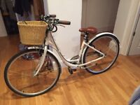 Lovely white Raleigh Caprice women's bike with basket, 3 years old, not used much