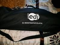 LED DJ Booth Star Cloth