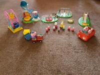 Selection of Peppa Pig toys and figures