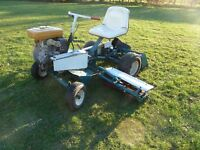 ALLEN NATIONAL RIDE ON CYLINDER MOWER, 6FOOT CUT, 8.5HP ENGINE, ALL IN WORKING O