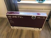 BRAND NEW/SEALED LG 43in 4K TV 43UK6300PLB