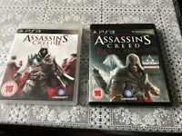 Assassin's creed 2 & revelations & FIFA 12 (SEALED) & FIFA 13 PS3 all for £10