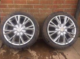 """17"""" wolfrace alloy wheels pcd 114 et40"""