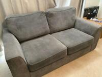 2 and 3/4 seater DFS Grey sofas