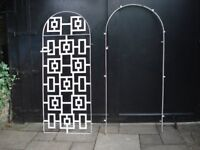 METAL ARCH GATE FOR GARDEN