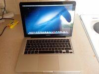 macbook pro 13 inch i7 with 8gb ram, 500 gb new hard drive