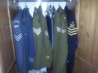 Post ww2 army jackets, coats and trousers bundle