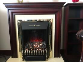 Electric fire and small display cabinet