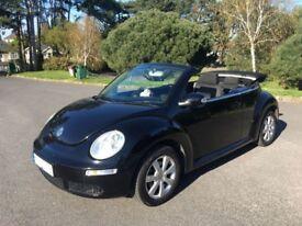 VW BEETLE 1.6 LUNA BLACK CONVERTIBLE / CABRIOLET 2006