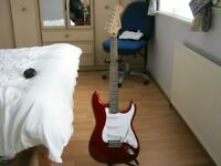 STRATOCAST FULL SIZE {SQUIRE}BY FENDER.