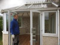 Conservatory, White PVC, windows, doors ,roof and trims.