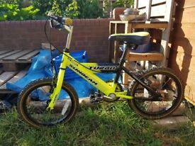 Kids Bike. Raleigh Sunbeam Turbo bicycle. 16 inch wheels. Good condition.