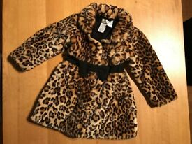 American Widgeon Faux Fur Coat with Hat - Size 5 years old