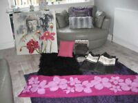 bedroom accessories canvas double bed set new also curtains pillow rug ect