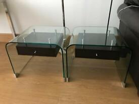 Glass side tables £50.00