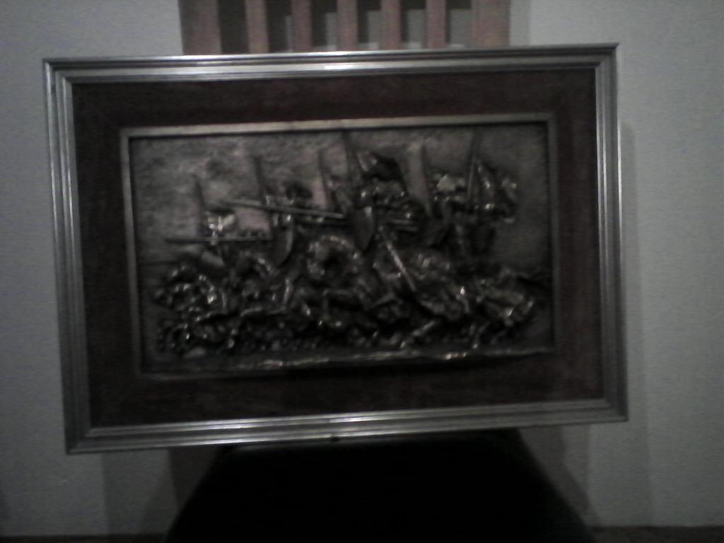 Framed bronze plaque